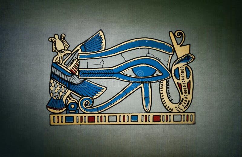 Глаз Horus старый на серой предпосылке иллюстрация штока