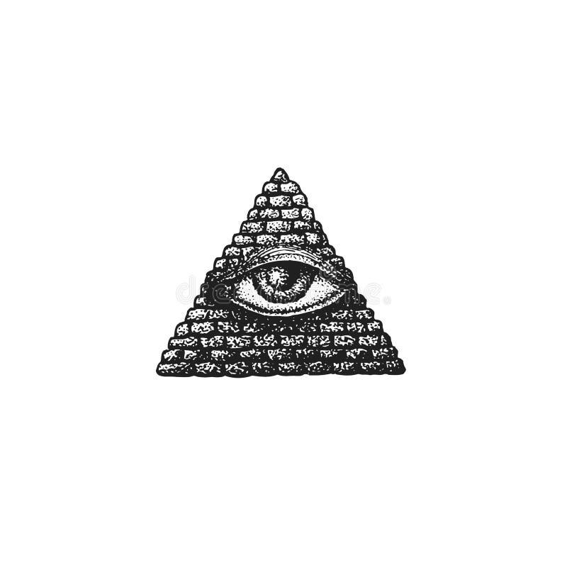 Глаз providence вектора нарисованный рукой бесплатная иллюстрация