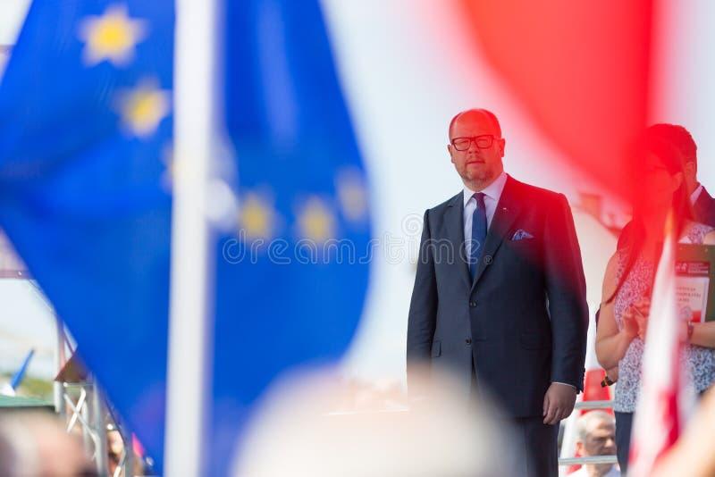 Гданьск, Польша, 22 07 2017 - Президент Гданьска Pawel Adamowicz стоковое изображение