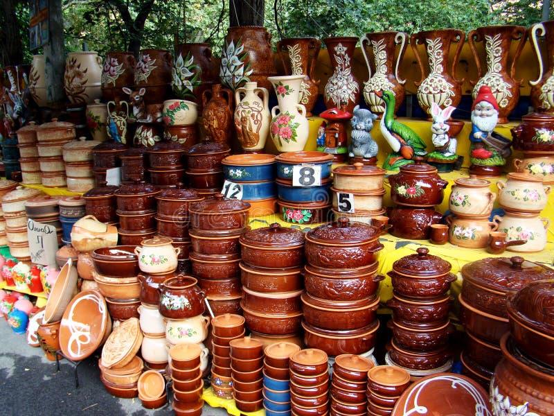 Глиняные горшки стоковые фото