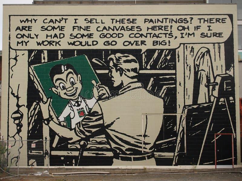 Г-н 4 квадратная настенная роспись стоковая фотография rf