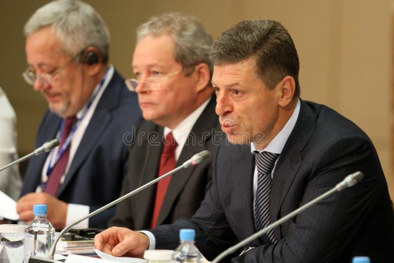 г-н основной rf министра kozak депутата dmitry стоковые фотографии rf