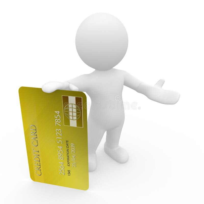 Г-н Умн Гай с кредитной карточкой иллюстрация вектора