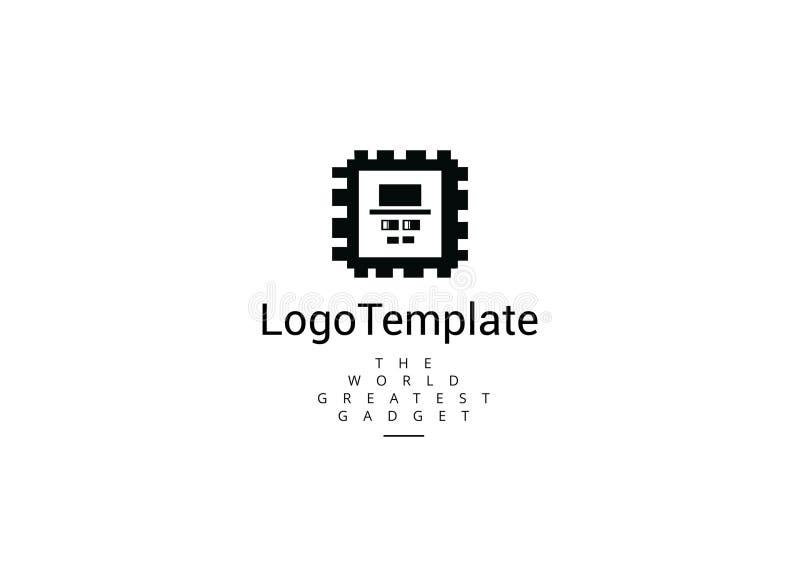 Г-н шаблон логотипа технологии бесплатная иллюстрация
