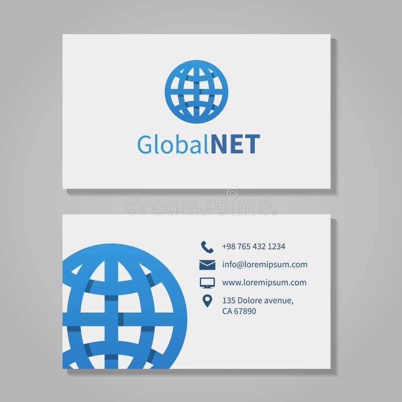 Глобальная визитная карточка корпорации иллюстрация штока