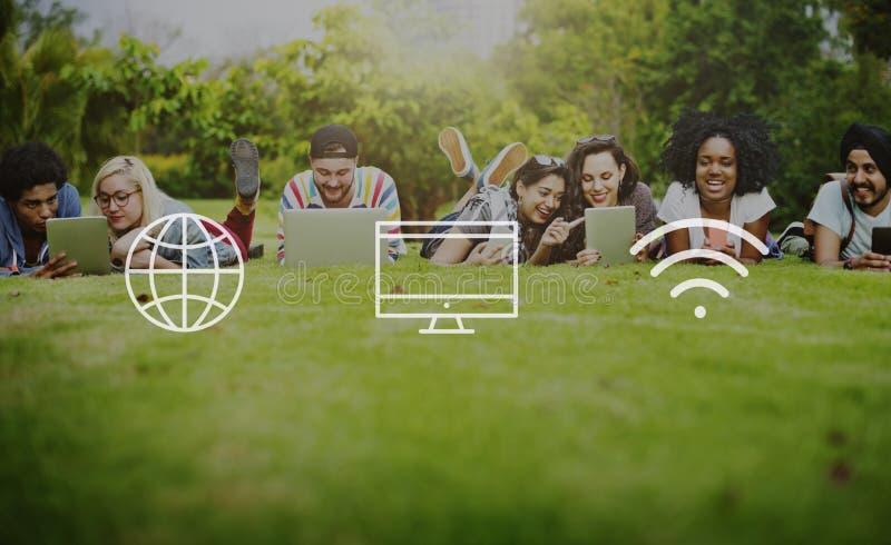 Глобальная всемирная концепция соединения цифров современная иллюстрация штока