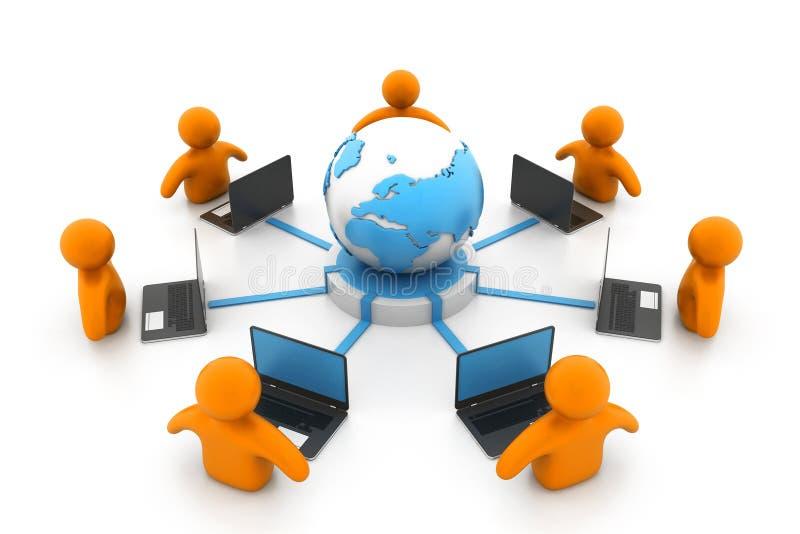 глобальная вычислительная сеть компьютера бесплатная иллюстрация