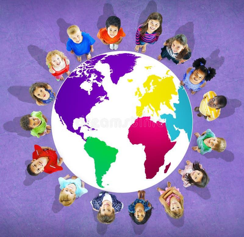Глобальная консервация Conce карты мира глобализации экологическая стоковая фотография