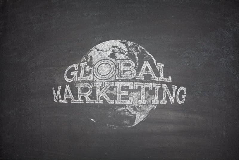 Глобальная концепция маркетинга на классн классном стоковое изображение