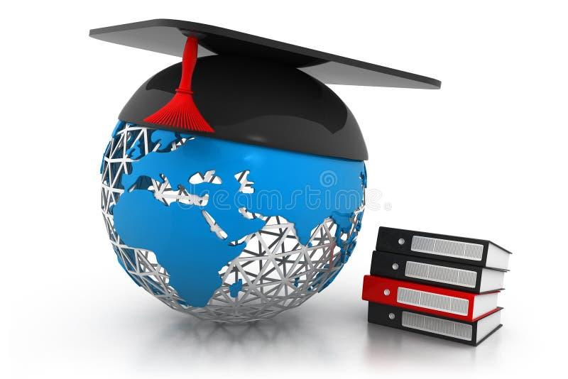 Глобальная концепция образования иллюстрация вектора