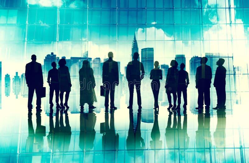 Глобальная концепция полета зрения команды корпоративного бизнеса стоковое фото rf