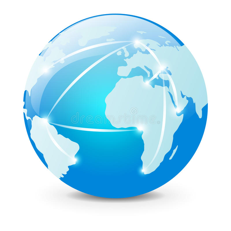 Глобальная логистическая принципиальная схема иллюстрация вектора