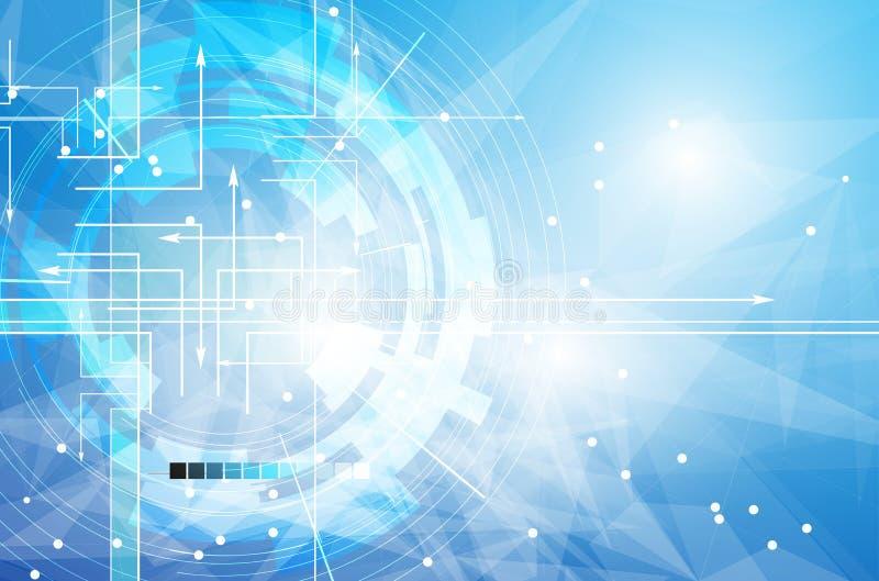 Глобальная предпосылка дела концепции компьютерной технологии безграничности иллюстрация штока