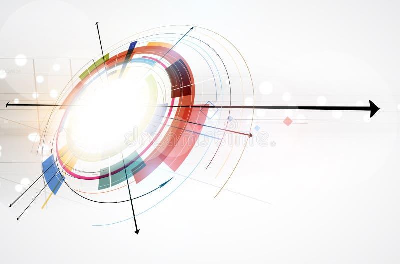 Глобальная предпосылка дела принципиальной схемы компьютерной технологии безграничности иллюстрация штока