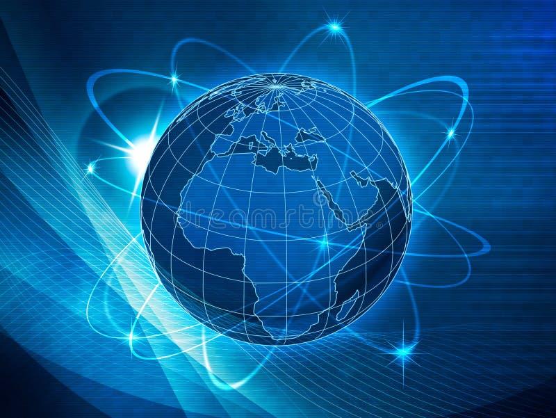 Глобальная предпосылка транспорта и связей иллюстрация вектора