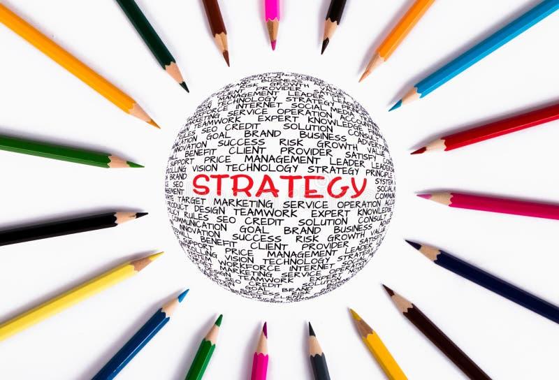 глобальная стратегия принципиальной схемы стоковая фотография