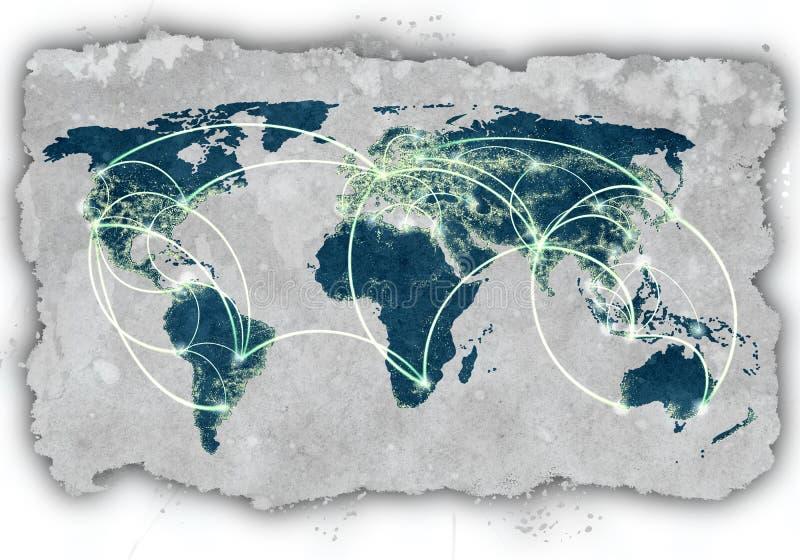 Глобальное взаимодействие стоковая фотография