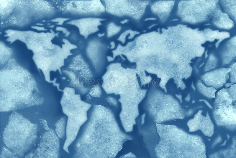 Глобальное замораживание Стоковое Изображение