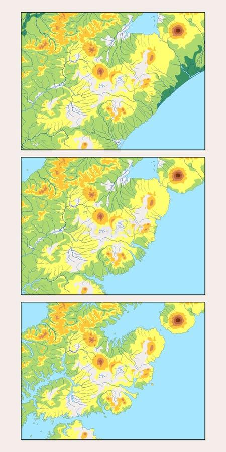 Глобальное потепление производит эффект карта иллюстрация штока