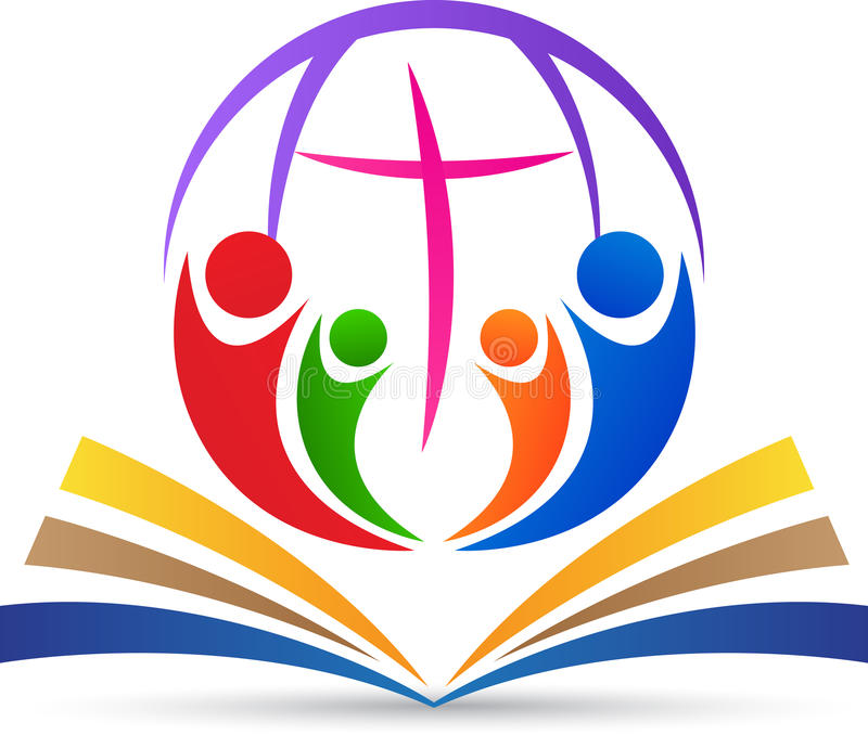 Глобальное христианство иллюстрация вектора