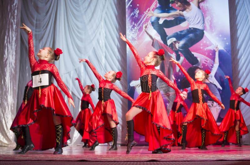 Глобальные конкуренции в хореографии, Минск танца, Беларусь. стоковое изображение