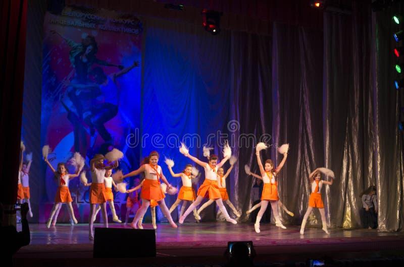 Глобальные конкуренции в хореографии, Минск танца, Беларусь. стоковые изображения rf
