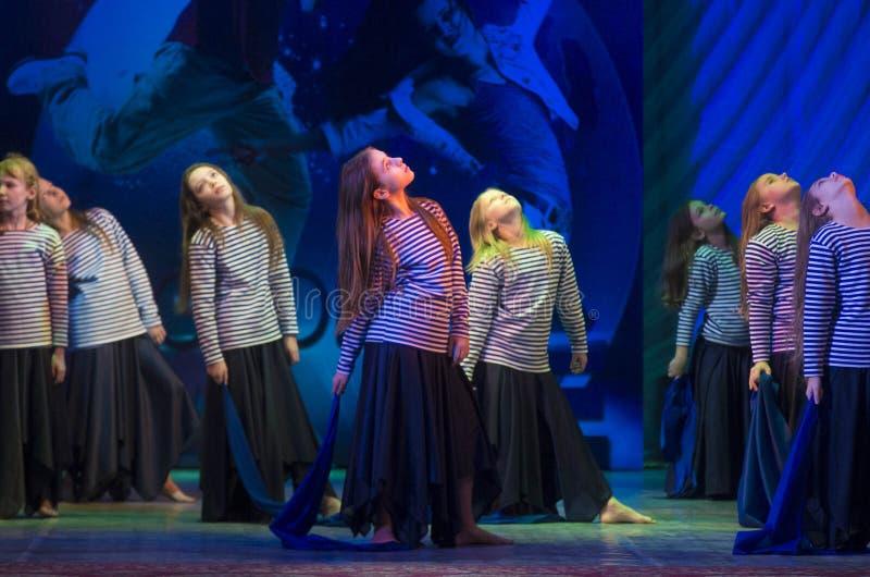 Глобальные конкуренции в хореографии, Минск танца, Беларусь. стоковая фотография rf