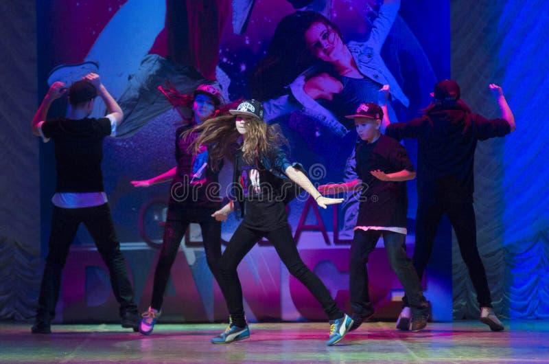Глобальные конкуренции в хореографии, Минск танца, Беларусь. стоковое фото