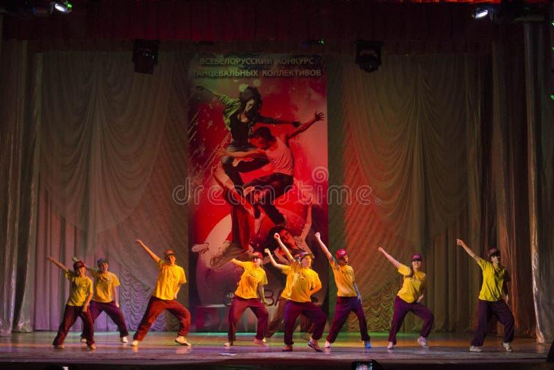 Глобальные конкуренции в хореографии, Минск танца, Беларусь. стоковые фотографии rf