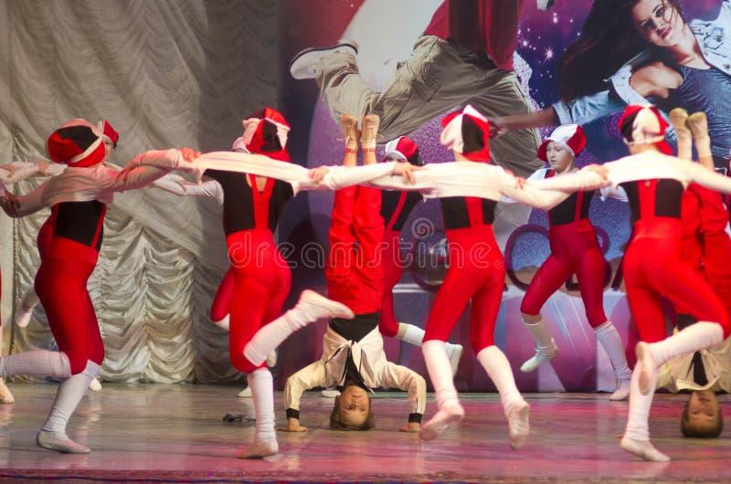 Глобальные конкуренции в хореографии, Минск танца, Беларусь. стоковое фото rf