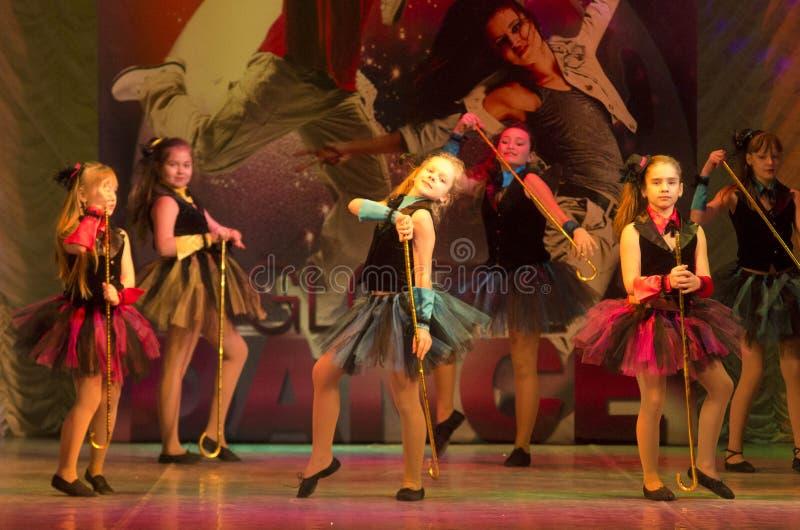 Глобальные конкуренции в хореографии, Минск танца, Беларусь. стоковая фотография