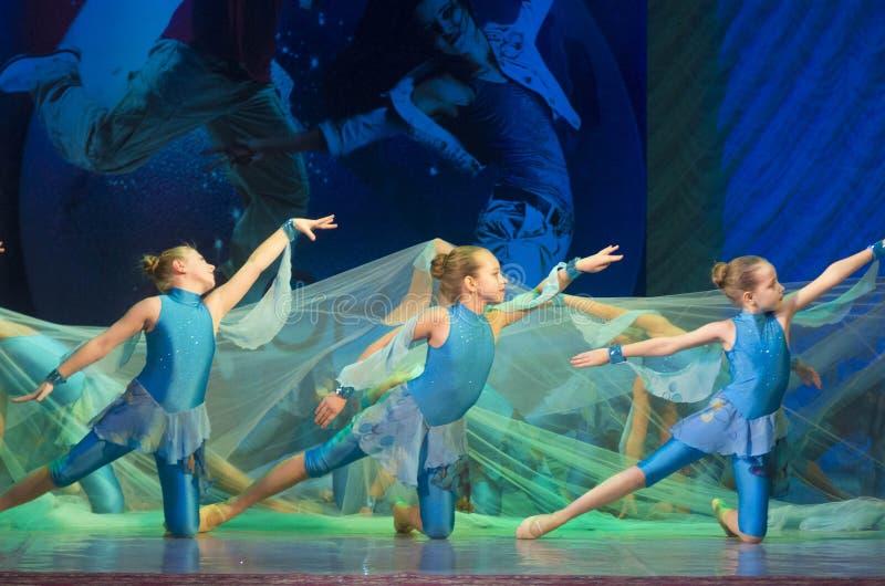 Глобальные конкуренции в хореографии, Минск танца, Беларусь. стоковые изображения