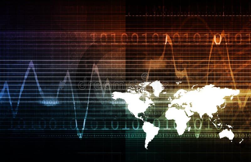 Глобальные решения технологии иллюстрация штока