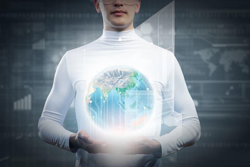 Download Глобальные технологии стоковое изображение. изображение насчитывающей владение - 41651189