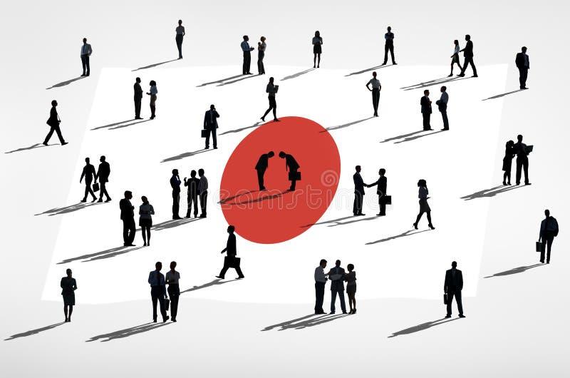 Глобальный бизнес: Флаг Японии бесплатная иллюстрация