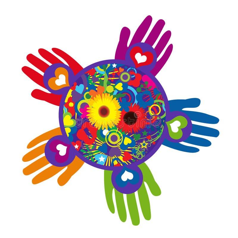 Глобальный день обслуживания молодости бесплатная иллюстрация