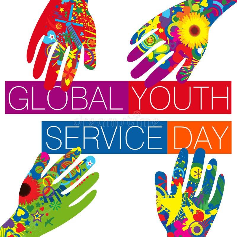 Глобальный день обслуживания молодости иллюстрация штока