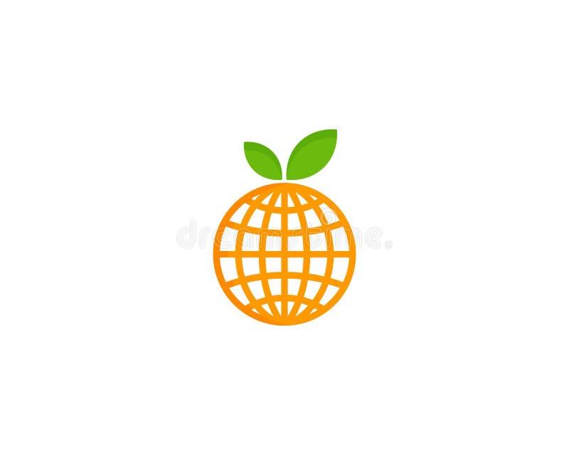 Глобальный международный элемент дизайна логотипа значка плодоовощ иллюстрация штока