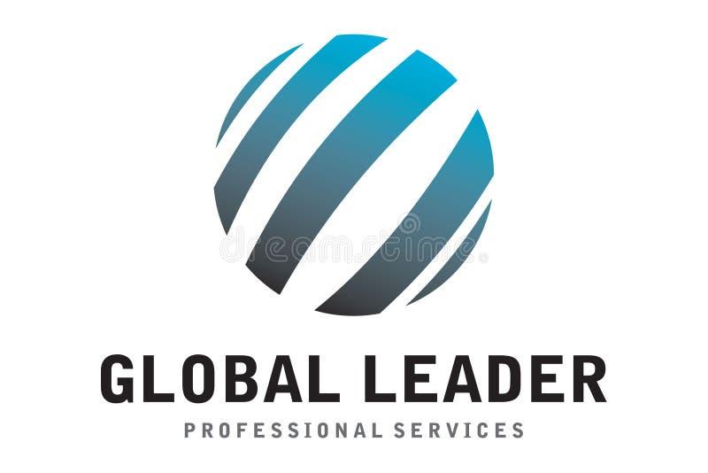 Глобальный логотип руководителя иллюстрация вектора
