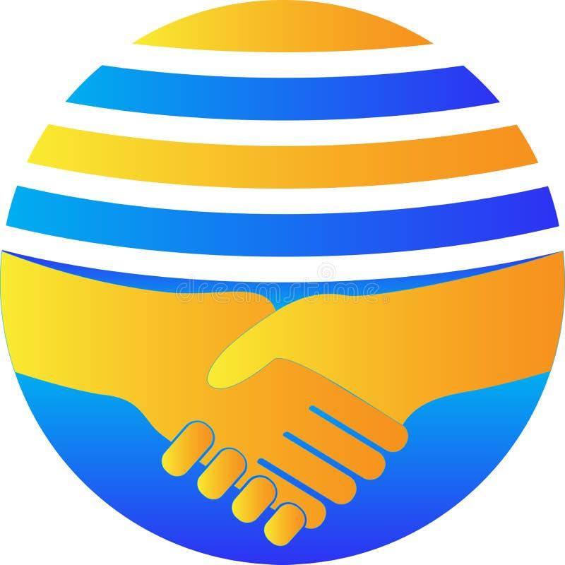 Глобальный партнер иллюстрация штока