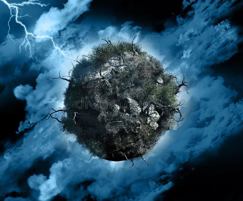 Глобальный шторм иллюстрация штока