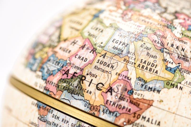 глобус Африки стоковое изображение rf