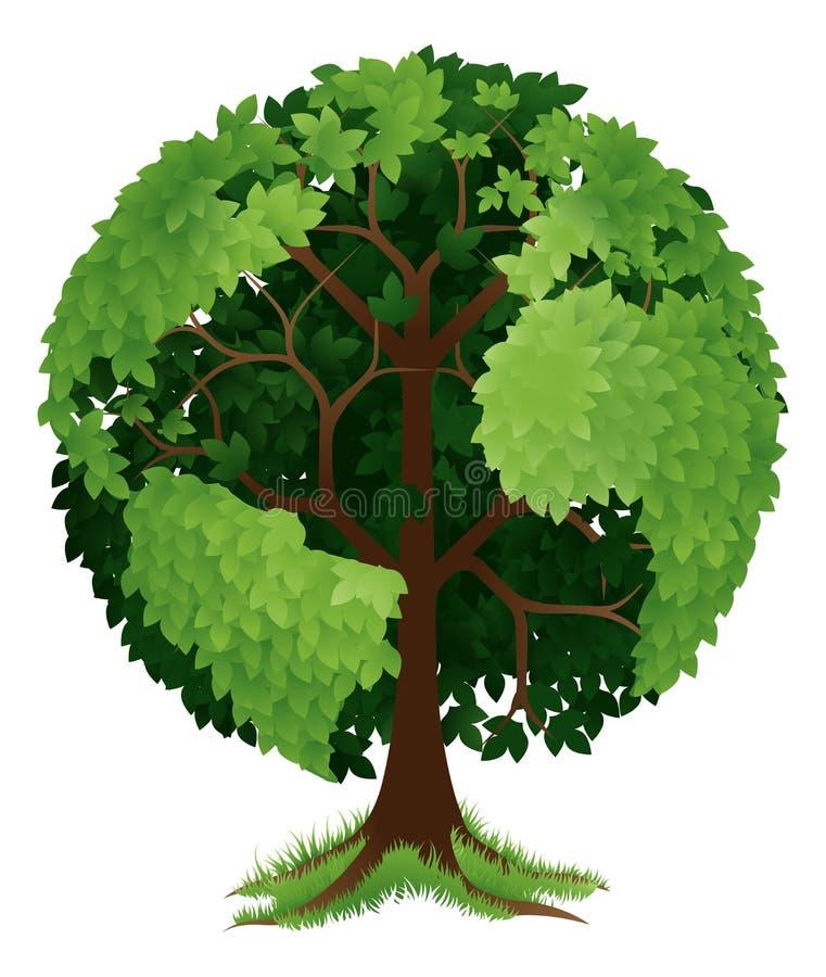 Глобус земли дерева иллюстрация штока
