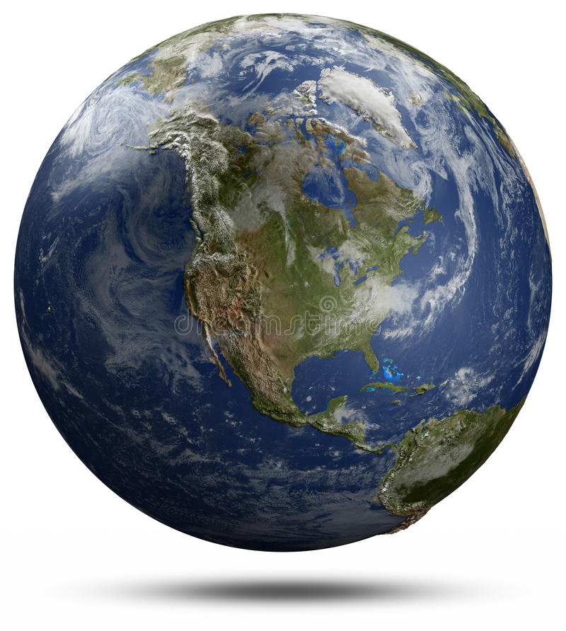 Глобус земли - Северная Америка бесплатная иллюстрация