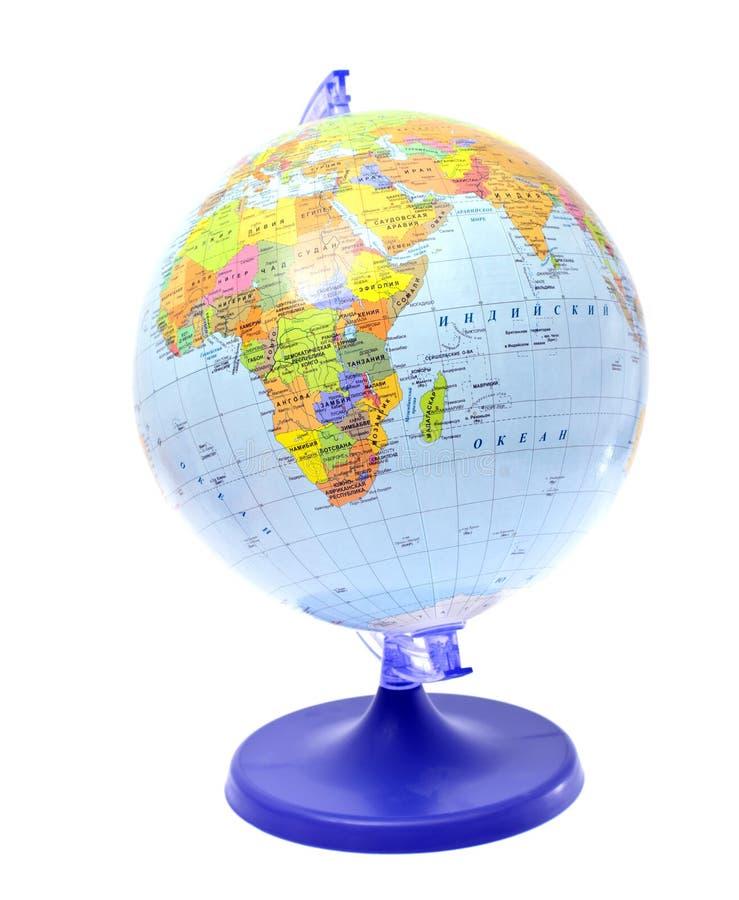 Download Глобус изолированный на белой предпосылке Стоковое Изображение - изображение насчитывающей острова, школа: 40578807