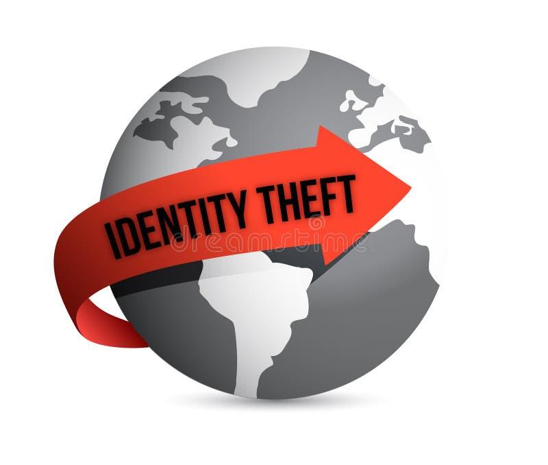 Глобус кражи личных данных иллюстрация вектора