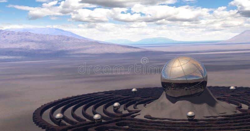 Глобус пустыни стоковая фотография rf