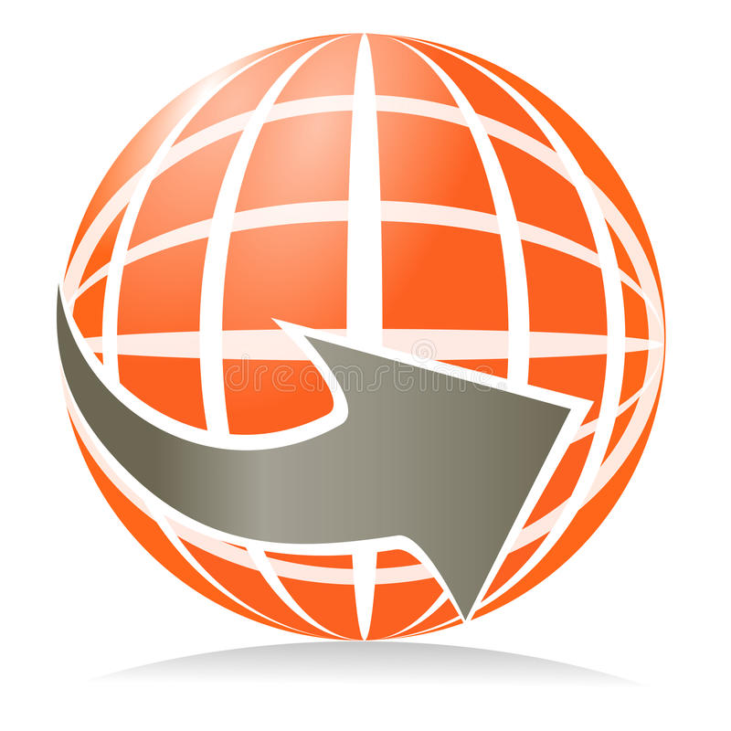Глобус дротика стоковые изображения rf