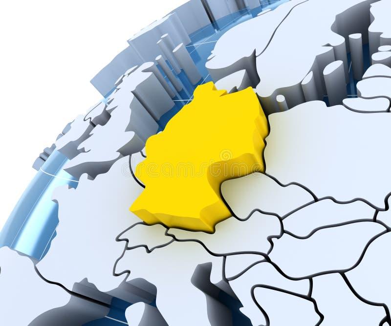 Глобус с прессованными континентами, конец-вверх дальше бесплатная иллюстрация