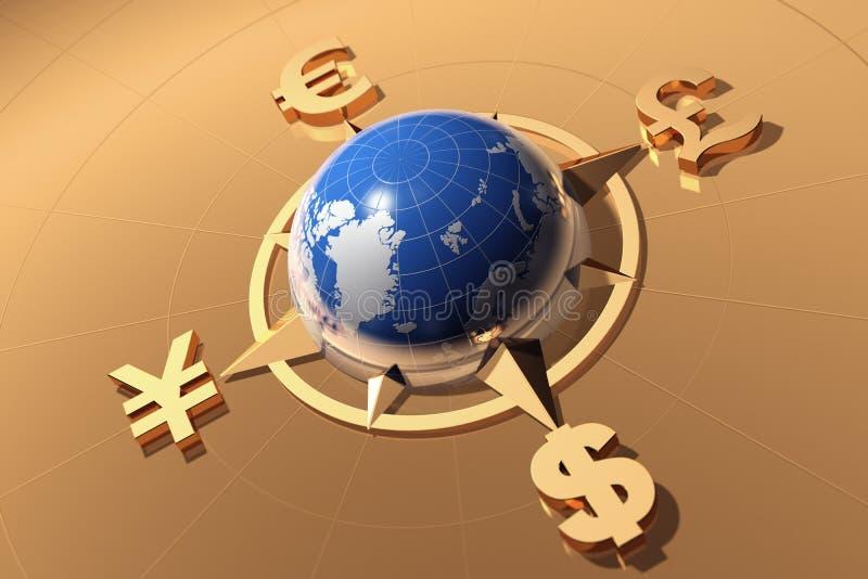 Принципиальная схема денег иллюстрация вектора